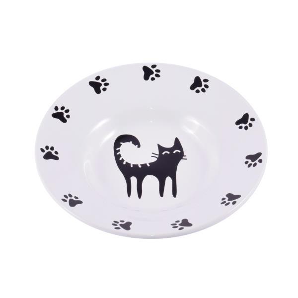 КерамикАрт / Миска-блюдце керамическая для кошек 140 мл
