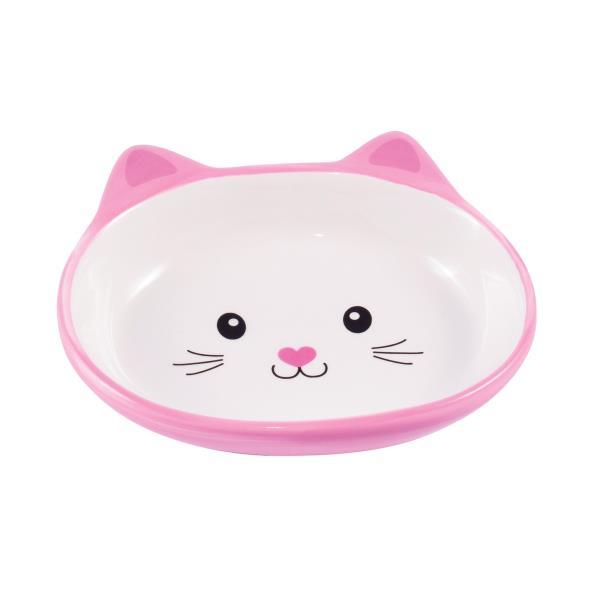 КерамикАрт / Миска керамическая для кошек Мордочка кошки 160 мл