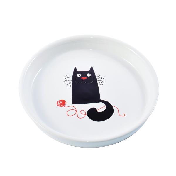 КерамикАрт / Миска керамическая для кошек с Кошкой 210 мл
