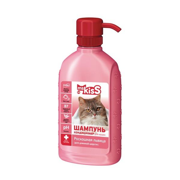 ms KisS / Шампунь-кондиционер Мисс Кисс для Длинношерстных кошек Роскошная львица