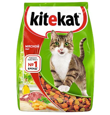 Kitekat Китикет Сухой корм для кошек Мясной пир