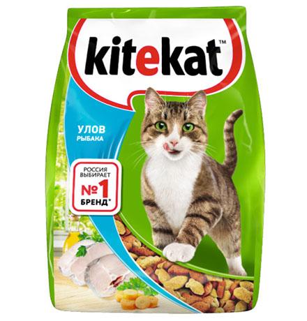 Kitekat Китикет Сухой корм для кошек Улов Рыбака