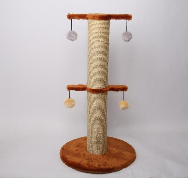 Лион / Когтеточка для кошек Исскуственный мех Веревка джут 55х65х35см