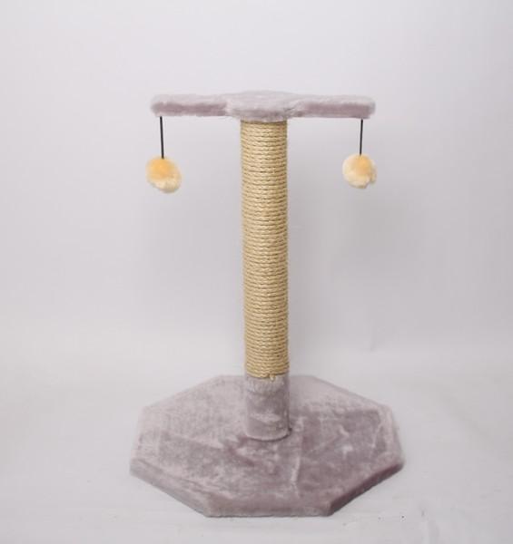 Лион / Когтеточка для кошек Исскуственный мех Веревка джут 38х55х38см