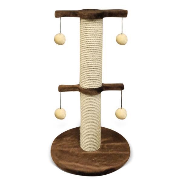 Лион / Когтеточка для кошек Исскуственный мех Веревка джут 40х70х40см