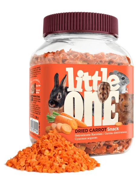 Little One Snack Dried carrot / Лакомство Литтл Уан для грызунов Сушеная Морковь
