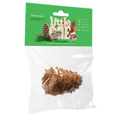 Little One Cedar cone / Лакомство Литтл Уан для грызунов Кедровая шишка Натуральная с Орешками