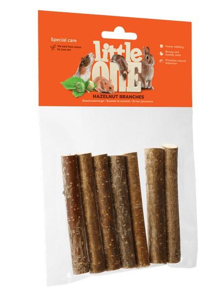 Little One Nibble haselnut branches / Лакомство Литтл Уан для грызунов Уход за зубами Ветви Орешника