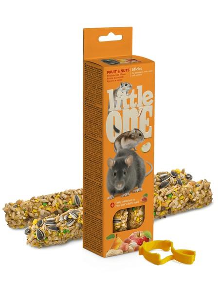 Little One Sticks Fruit & nuts / Палочки Литтл Уан для Хомяков Крыс Мышей Песчанок Фрукты и Орехи
