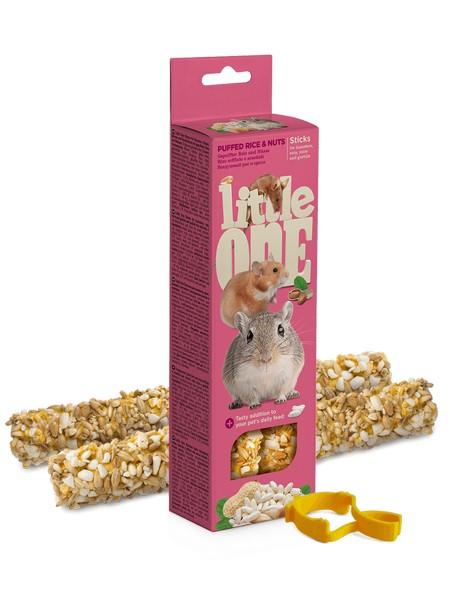 Little One Sticks Puffed rice & nuts / Палочки Литтл Уан для Хомяков Крыс Мышей Песчанок Воздушный Рис и Орехи