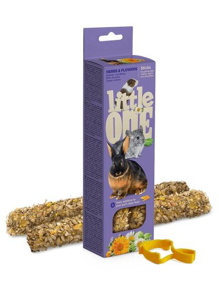 Little One Sticks Herbs & flowers / Палочки Литтл Уан для Морских свинок Кроликов Шиншилл Травы и Цветы