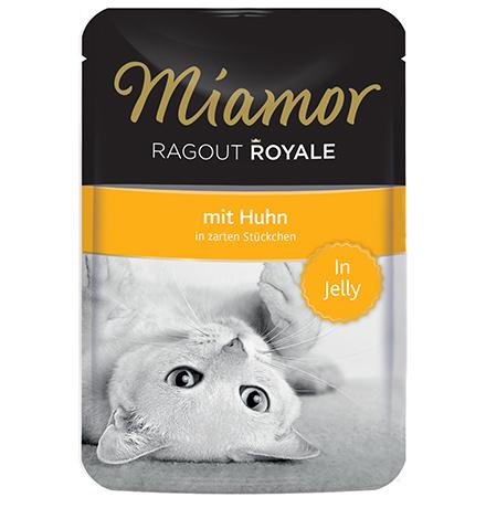 Miamor Ragout Royale mit Huhn in Jelly / Паучи Миамор для кошек Курица кусочки в желе (цена за упаковку)