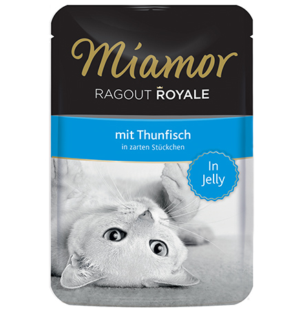 Miamor Ragout Royale mit Thunfisch in Jelly / Паучи Миамор для кошек Тунец кусочки в желе (цена за упаковку)