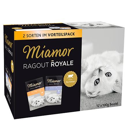Miamor Kitten 3 Sorten Vorteilspack in Jelly Rind & Geflugel / Паучи Миамор Мультибокс для Котят кусочки в желе Говядина Птица (цена за упаковку)