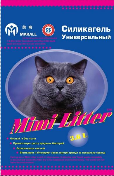 Mimi Litter / Наполнитель Мими Литер для кошачьего туалета Силикагелевый Универсальный