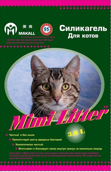 Mimi Litter / Наполнитель Мими Литер для кошачьего туалета Силикагелевый для котов (зеленые гранулы)
