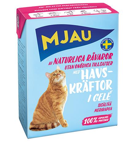Mjau chunks in jelly with Crayfish / Консервы Мяу для кошек Мясные кусочки в желе с Лангустом (цена за упаковку)