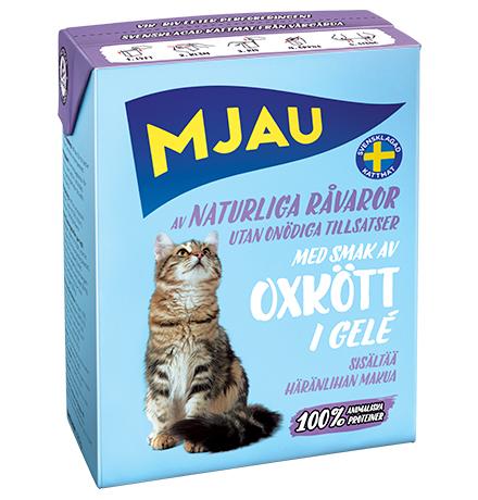 Mjau chunks in jelly with Beef flavour / Консервы Мяу для кошек Мясные кусочки в желе с Говяжьим вкусом (цена за упаковку)