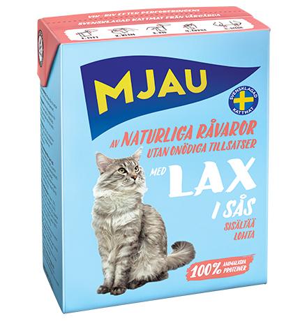Mjau chunks in sauce with Salmon / Консервы Мяу для кошек Мясные кусочки в соусе с Лососем (цена за упаковку)