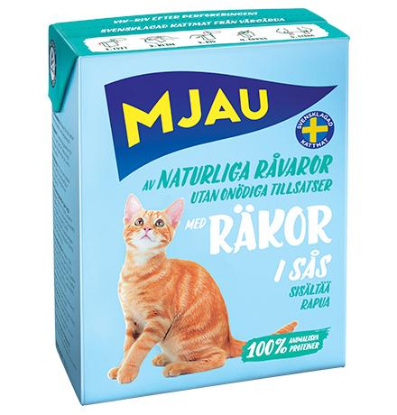 Mjau chunks in sauce with Shrimps / Консервы Мяу для кошек Мясные кусочки в соусе с Креветками (цена за упаковку)