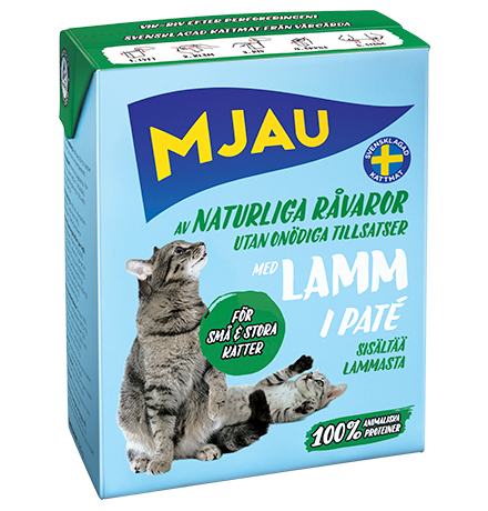 Mjau pate with Lamb / Консервы Мяу для кошек Мясной паштет с Ягненком (цена за упаковку)