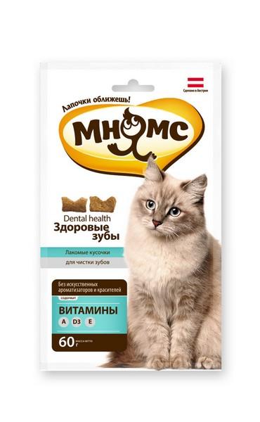 Мнямс Лакомство для кошек Хрустящие подушечки Здоровые зубы