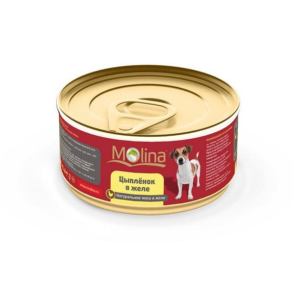 Molina / Консервы Молина для собак Цыпленок в желе (цена за упаковку)