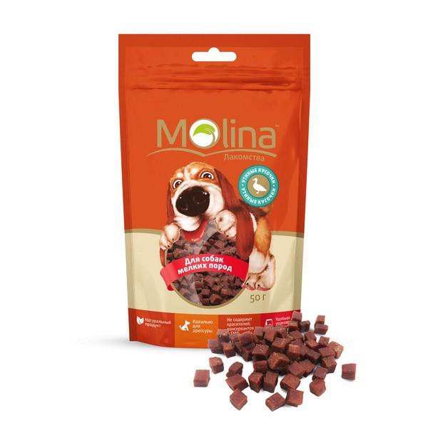 Molina / Лакомство Молина для собак Мелких пород Утиные кусочки