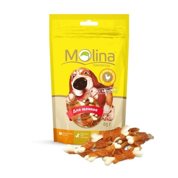 Molina / Лакомство Молина для Щенков Куриное филе на косточке