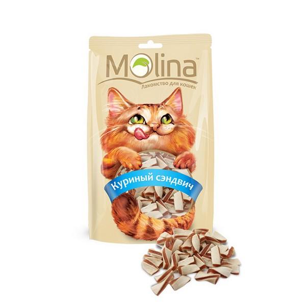 Molina / Лакомство Молина для кошек Куриный сэндвич