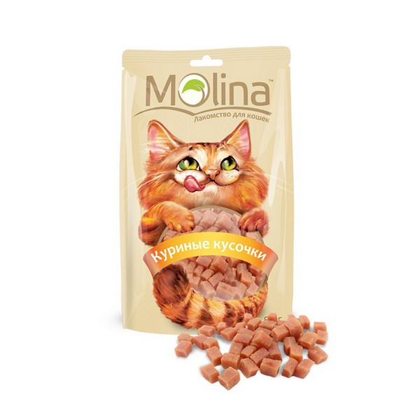 Molina / Лакомство Молина для кошек Куриные кусочки