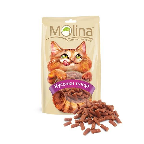 Molina / Лакомство Молина для кошек Кусочки тунца