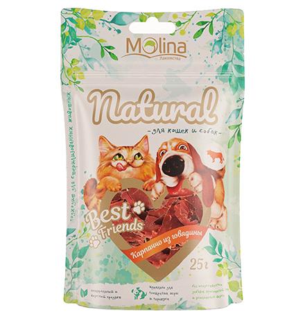 Molina Best Friends / Лакомство Молина для кошек и собак Карпаччо из говядины