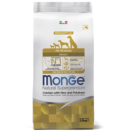 Monge Dog Speciality Adult Chicken & Rice / Сухой корм Монж Спешиалити для взрослых собак всех пород Курица с Рисом и Картофелем