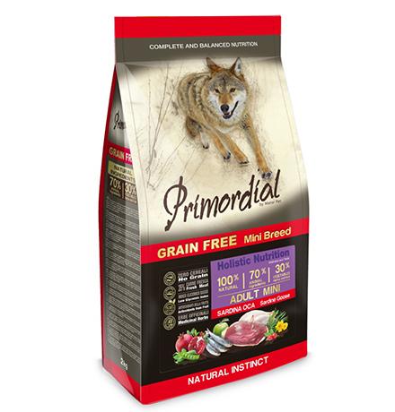 Primordial Adult Mini Grain free Holistic Sardine Goose / Сухой корм Примордиал Беззерновой для собак Мелких пород Сардина Гусь