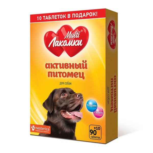 Multi Лакомки / Витаминное лакомство Мульти Лакомки для собак Активный питомец
