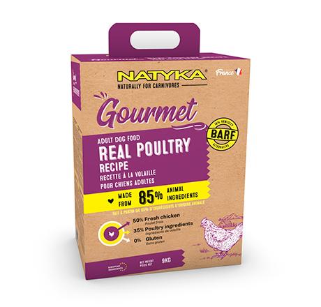 Natyka Gourmet Dog Adult Real Poultry / Сухой корм Натика для собак с Птицей