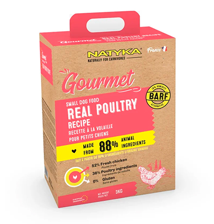 Natyka Gourmet Small Dog Real Poultry / Сухой корм Натика для собак Мелких пород с Птицей