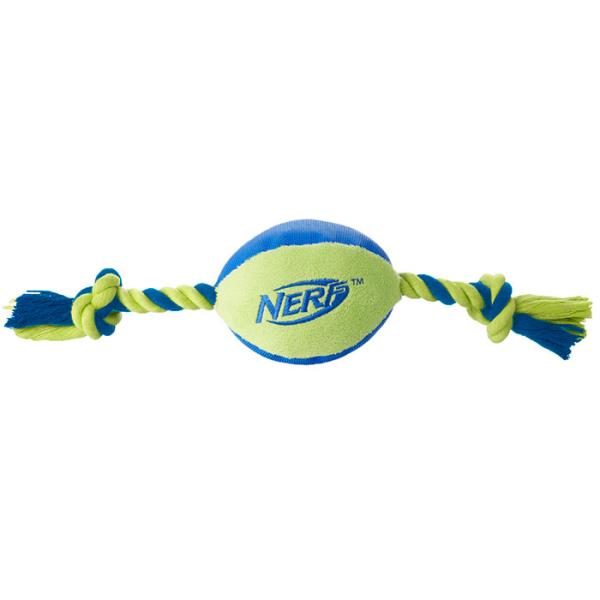 Nerf Dog / Мяч Нёрф Дог Плюшевый с веревками