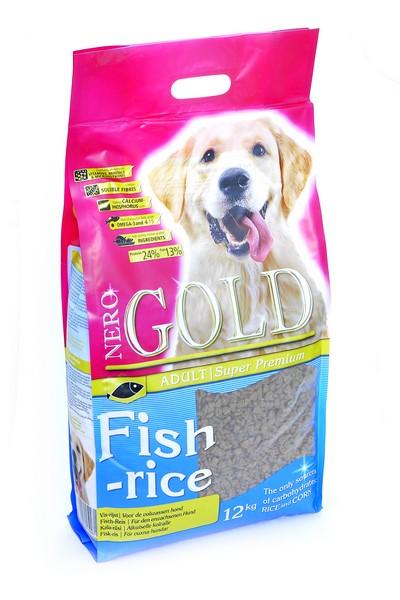 NERO GOLD super premium Fish & Rice / Сухой корм Неро Голд для взрослых собак Рыбный коктейль, рис и овощи