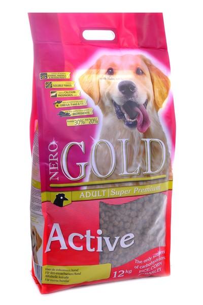 NERO GOLD super premium Adult Active / Сухой корм Неро Голд для взрослых Активных и Энергичных собак Курица и рис