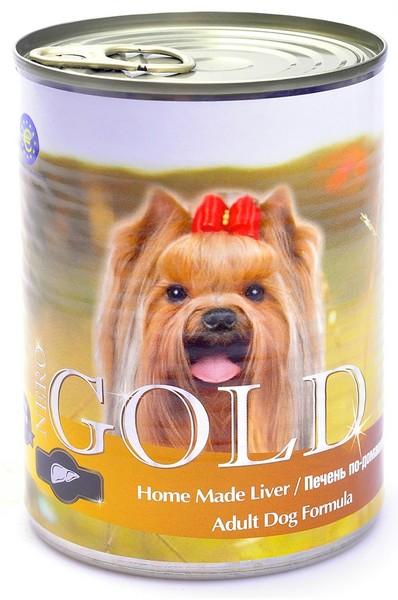 NERO GOLD Home Made Liver / Консервы Неро Голд для собак Печень по-домашнему (цена за упаковку)