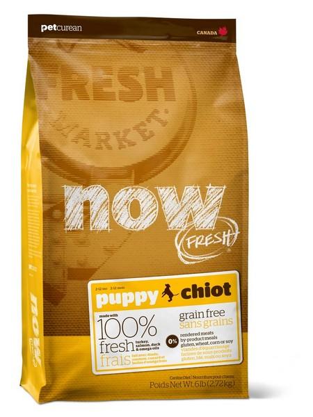 NOW Natural holistic Fresh Puppy Recipe Grain Free 28/18 / Сухой корм Нау Фреш Беззерновой для Щенков Индейка Утка Овощи