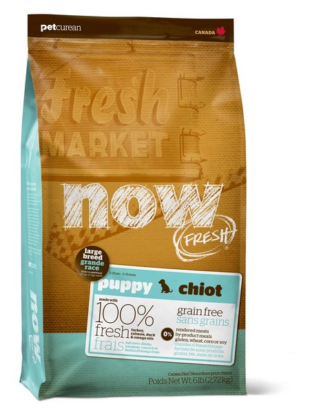 NOW Natural holistic Fresh Puppy Large Breed Recipe Grain Free 29/16 / Сухой корм Нау Фреш Беззерновой для Щенков Крупных пород Индейка Утка Овощи