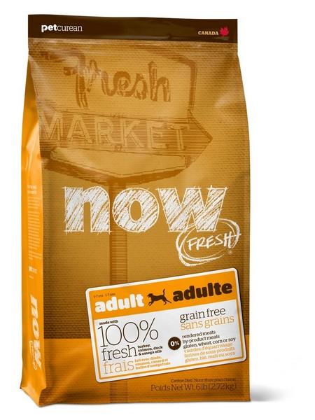NOW Natural holistic Fresh Adult Recipe Grain Free 26/16 / Сухой корм Нау Фреш Беззерновой для взрослых собак Индейка Утка Овощи