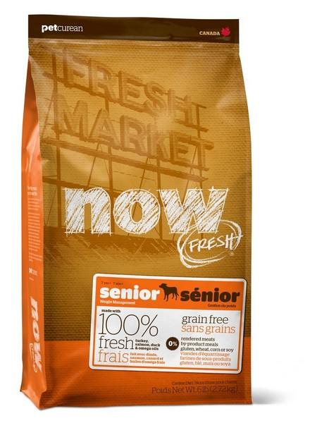 NOW Natural holistic Fresh Senior Recipe Grain Free 24/10 / Сухой корм Нау Фреш Беззерновой Контроль веса для Пожилых и Взрослых собак с Избыточным весом Индейка Утка Овощи