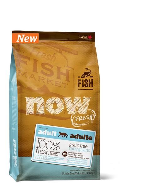 NOW Natural holistic Fresh Cat Grain Free Fish Adult Recipe CF 30/19 / Сухой корм Нау Фреш Беззерновой для взрослых кошек с Чувствительным пищеварением Форель Лосось
