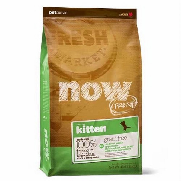 NOW Natural holistic Fresh Cat Grain Free Kitten Recipe 33/20 / Сухой корм Нау Фреш Беззерновой для Котят Индейка Утка Овощи