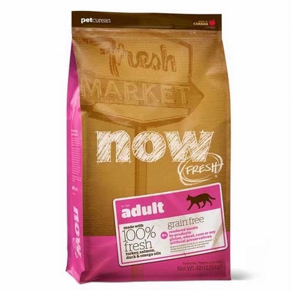 NOW Natural holistic Fresh Cat Grain Free Adult Recipe 31/18 / Сухой корм Нау Фреш Беззерновой для взрослых кошек Индейка Утка Овощи