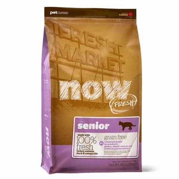 NOW Natural holistic Fresh Cat Grain Free Senior Recipe 30/14 / Сухой корм Нау Фреш Беззерновой Контроль веса для Пожилых и Взрослых кошек с Избыточным весом Индейка Утка Овощи
